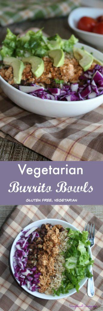 Vegetarian Burrito Bowls Simplenandsavory.com gluten free, vegetarian