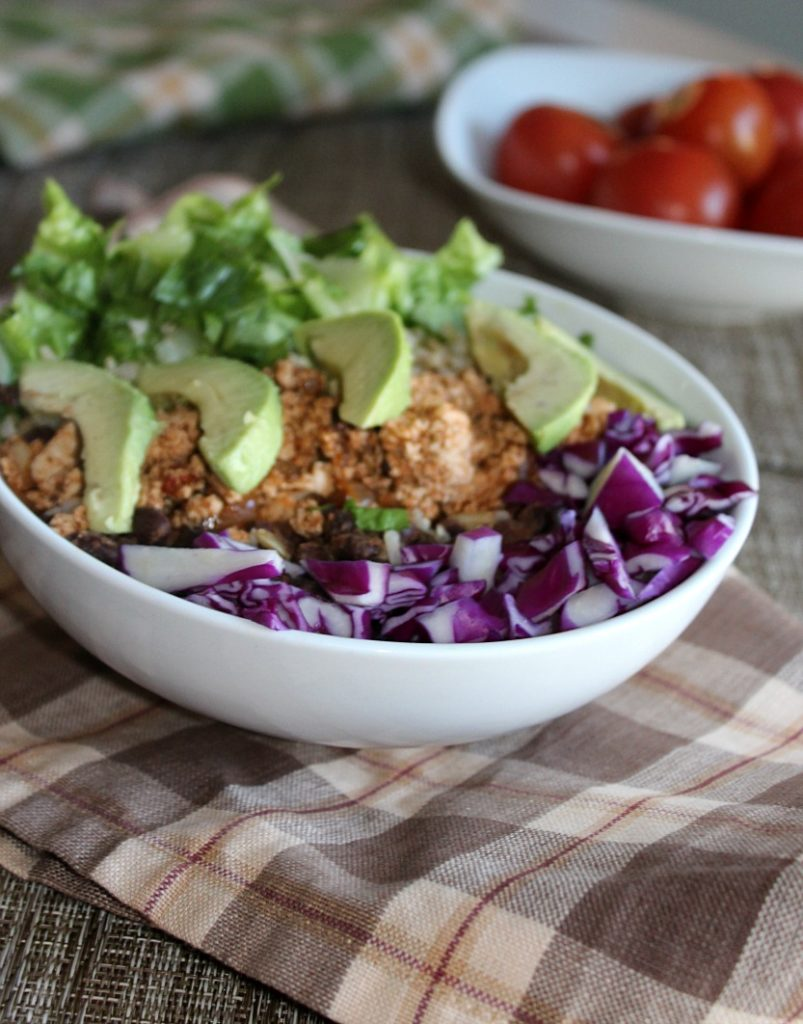 Vegetarian burrito bowls simpleandsavory.com