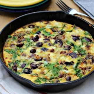 One Pan Mediterranean Quiche