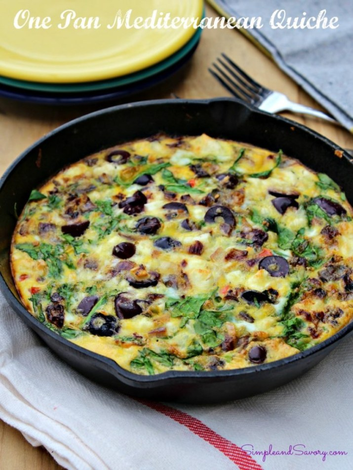 One Pan Mediterranean Quiche
