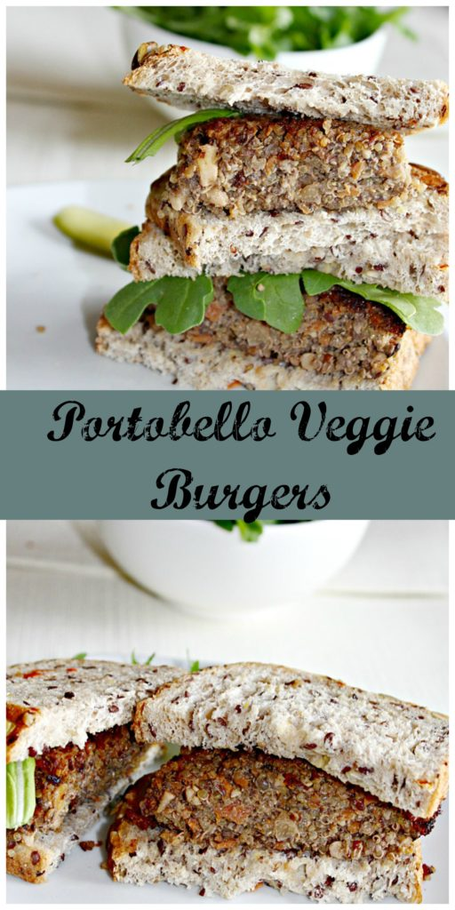 Portobello veggie burgers Simpleandsavory.com