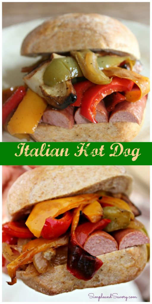 Italian Hot Dog Simple and Savory #SundaySupper