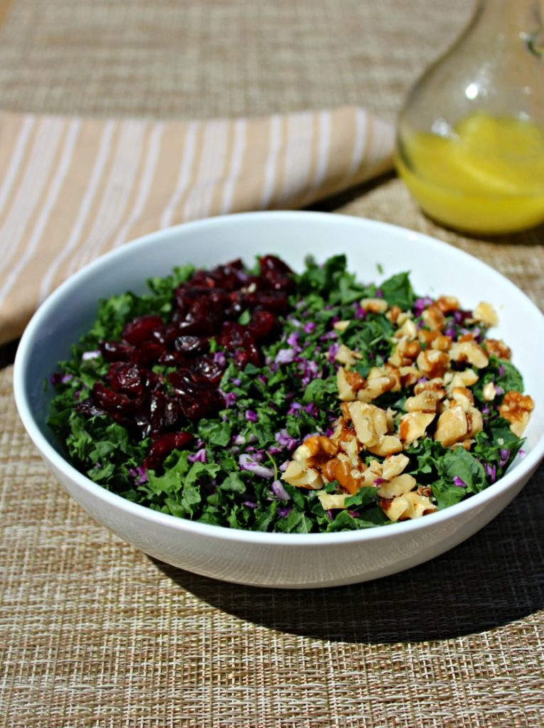 Kale Salad with craisins Simple and Savory