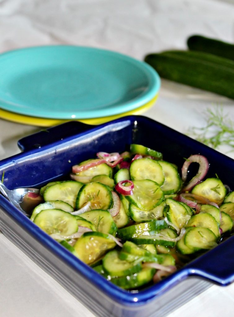 Mom's Cucumbers in Vinegar simple and savory #SundaySupper
