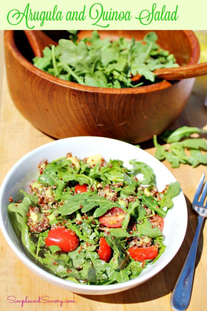 Arugula and Quinoa Salad Simpleandsavory.com