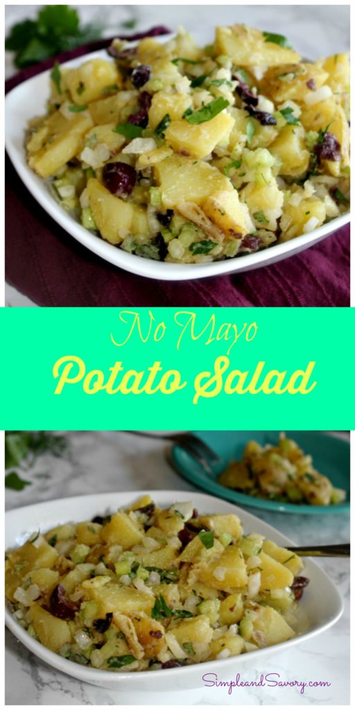 No Mayo Potato Salad #SundaySupper made with no mayo and fresh herbs