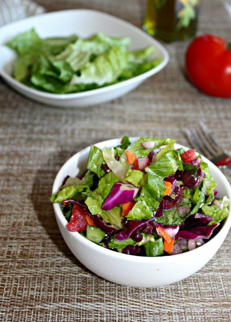 Garden Chopped fresh salad SimpleandSavory.com