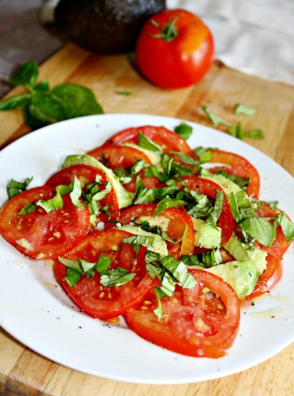 caprese salad with avocados Simple And savory.com