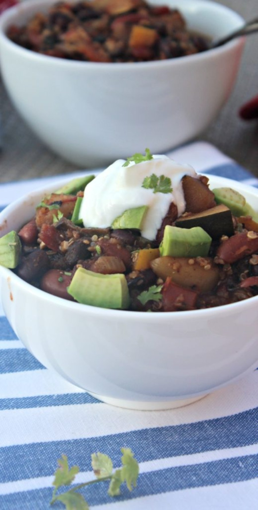 Hearty Vegetable Chili SimpleandSavory.com