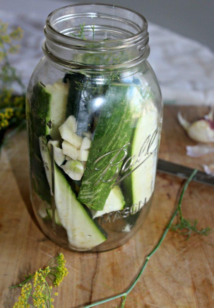 Zucchini Dill Pickles Recipe — Dishmaps