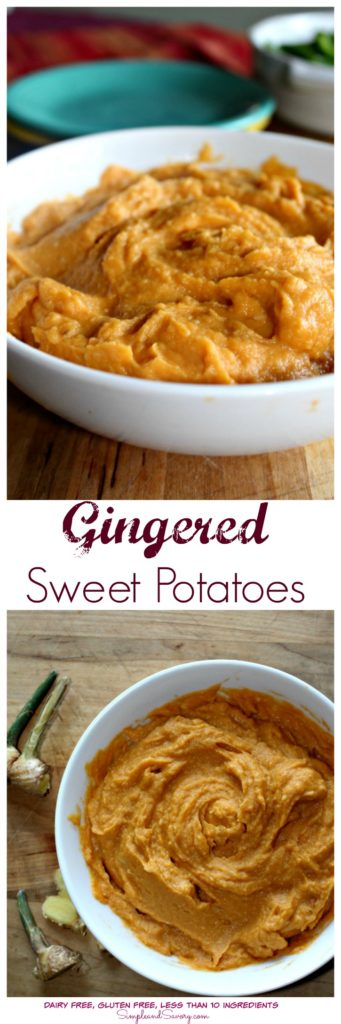 Gingered Sweet Potatoes #SundaySupper Dairy Free