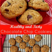 Healthy Chocolate Chip Cookies #Christmascookies