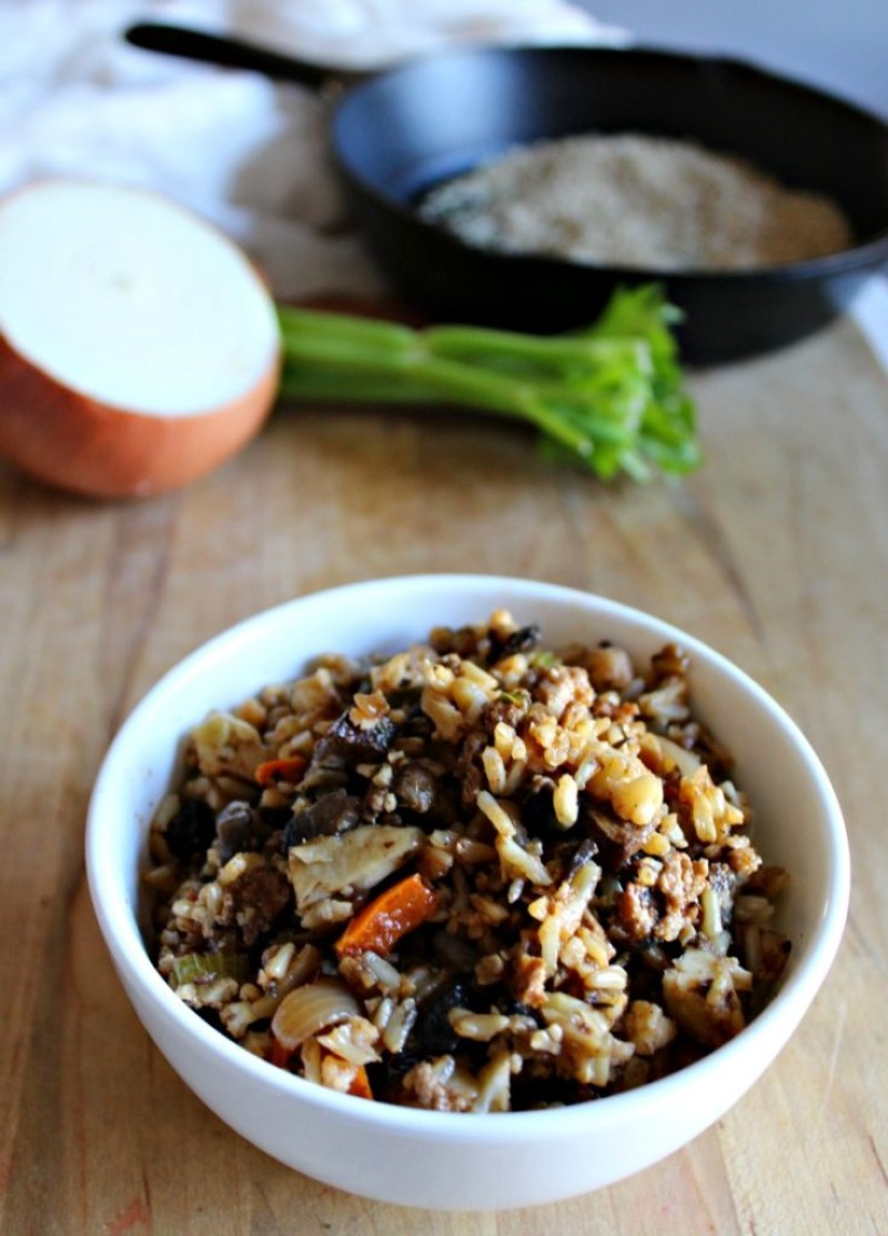 Not so dirty rice made with cauliflower