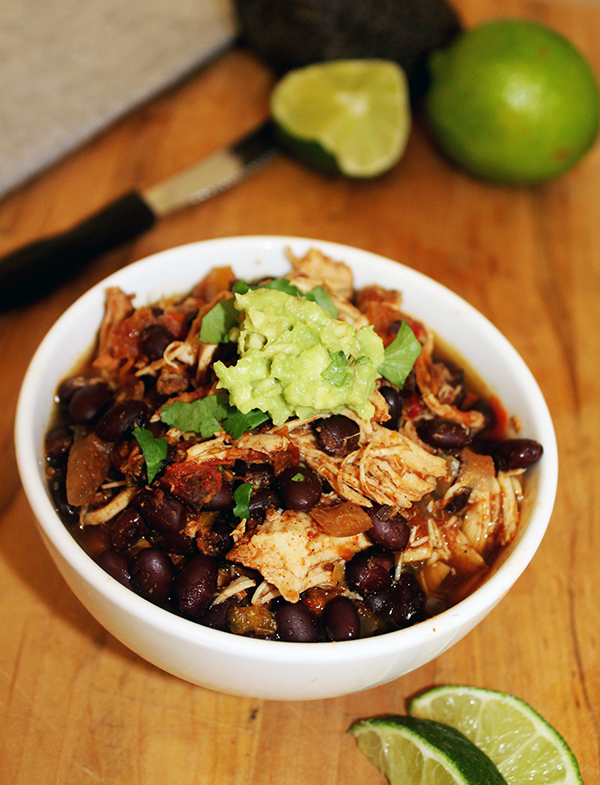 Slow cooker chili chicken with beans gluten free Simple and Savory