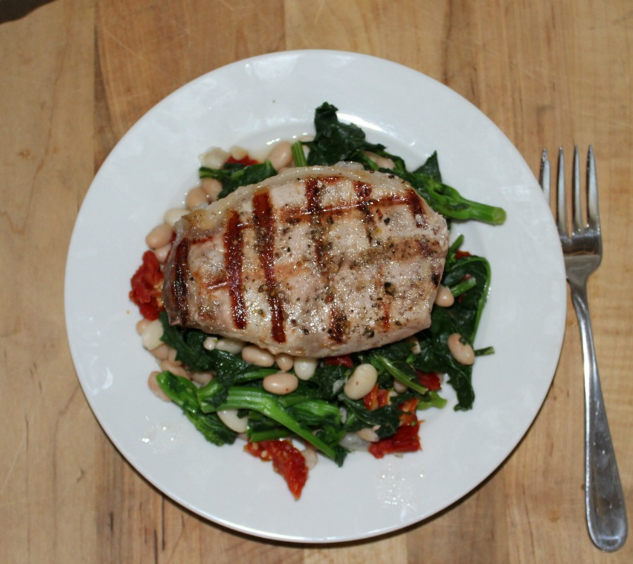 Grilled Boneless Pork Chops With Broccoli Rabe Simple And Savory Com