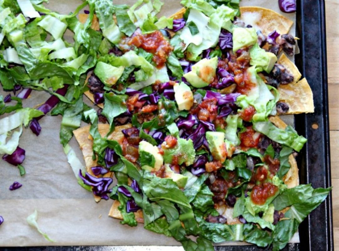 Easy Black Bean Sheet Pan Nachos SimpleandSavory.com