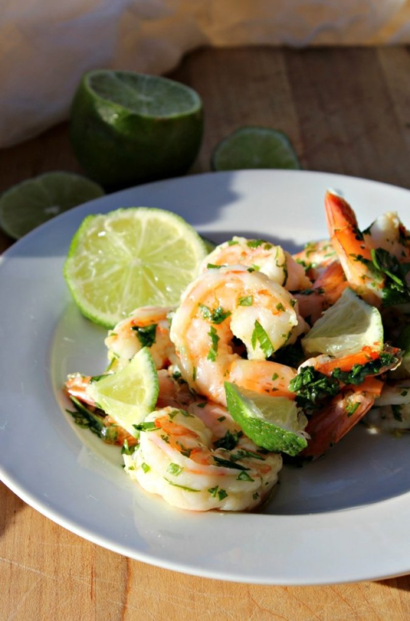 Cilantro Lime shrimp from simpleandsavory.com
