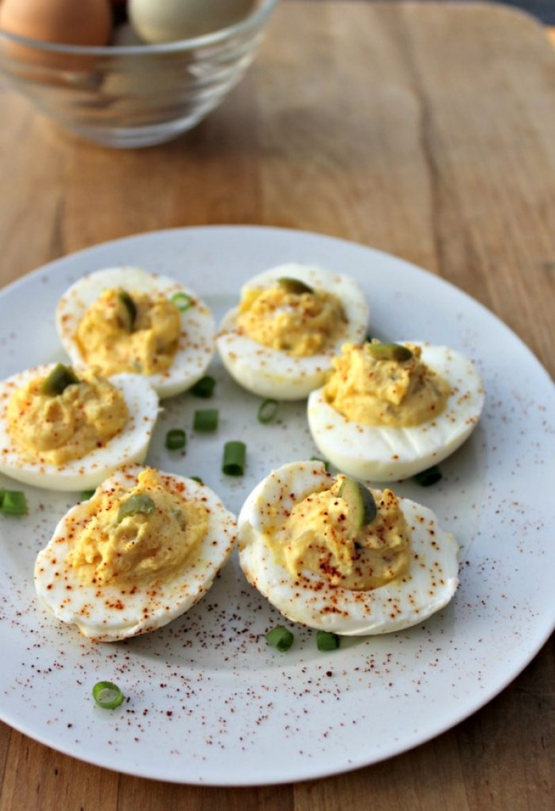 Deviled Eggs without mayo