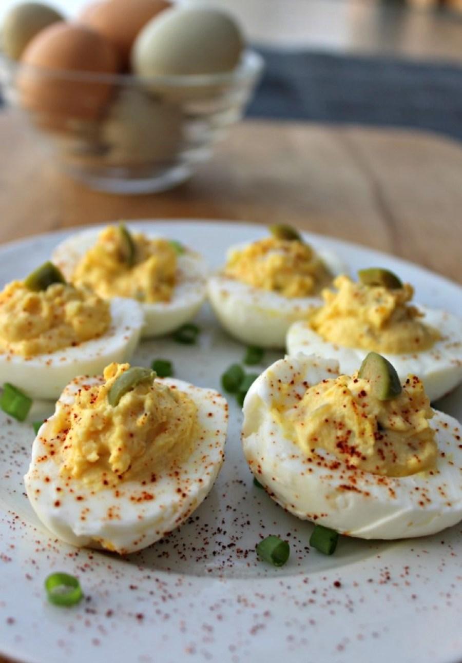 Easy no mayo deviled eggs
