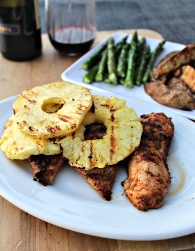 Grilled Jerk Chicken with Pineapple - Simple And Savory