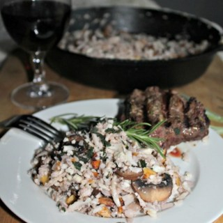 Cauliflower risotto gluten free low carb simpleandsavory.com