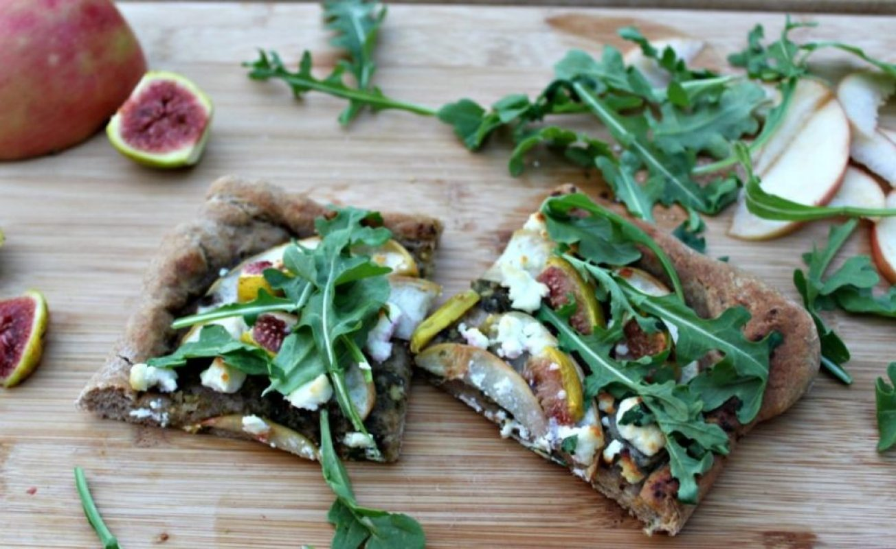 Apple and fig flatbread with arugula appleweek