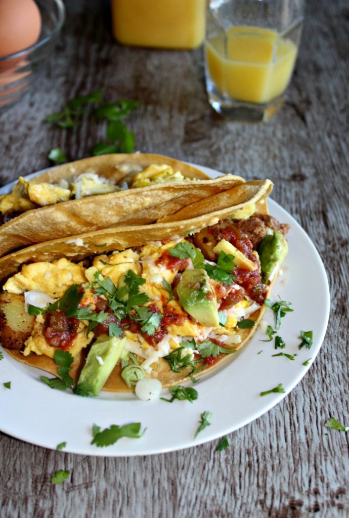 Texas Breakfast Tacos #foodbloggers4tx