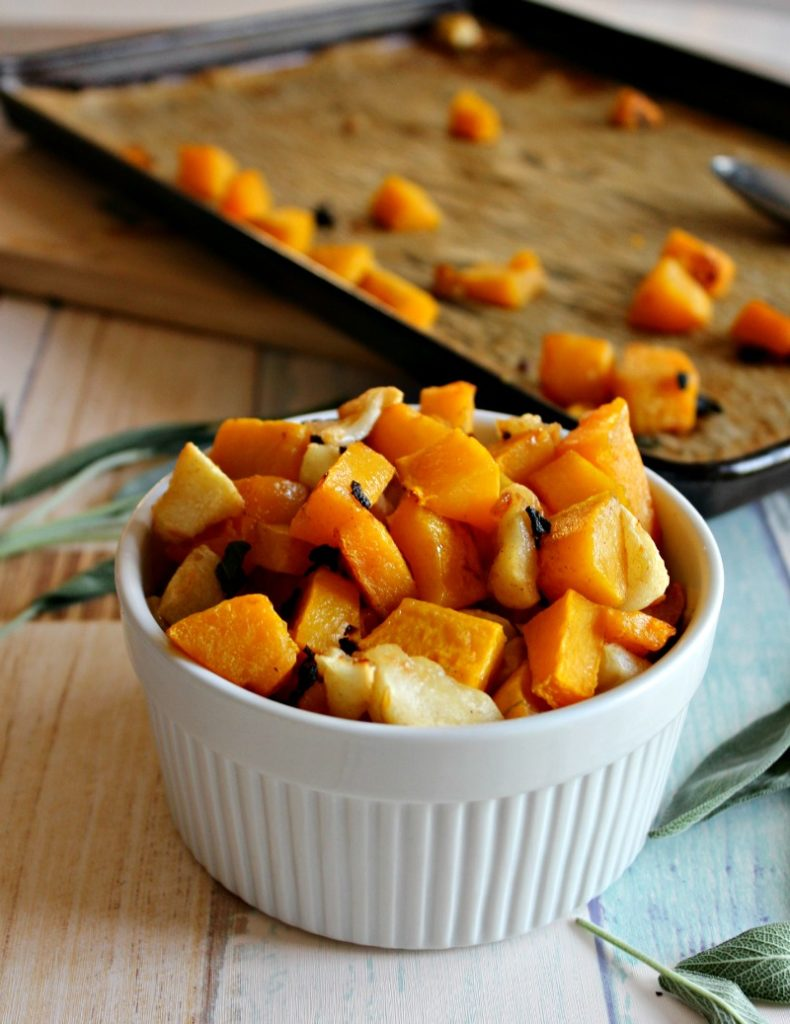 Roasted Butternut Squash and Apples #Appleweek - Simple And Savory