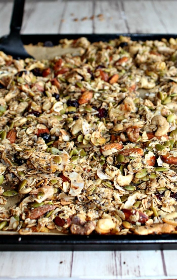 Easy healthy homemade granola made fro scratch simple and savory.com