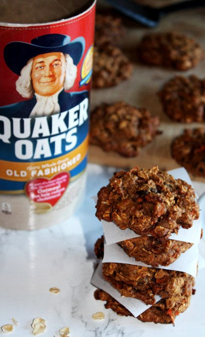 Oatmeal carrot breakfast cookies from simpleandsavory.com