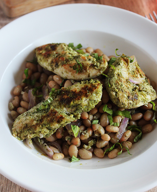 One Pan Garlic Herb Chicken With White Beans Simple And