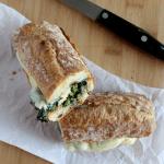 Broccoli and mushroom sandwich simple and savory