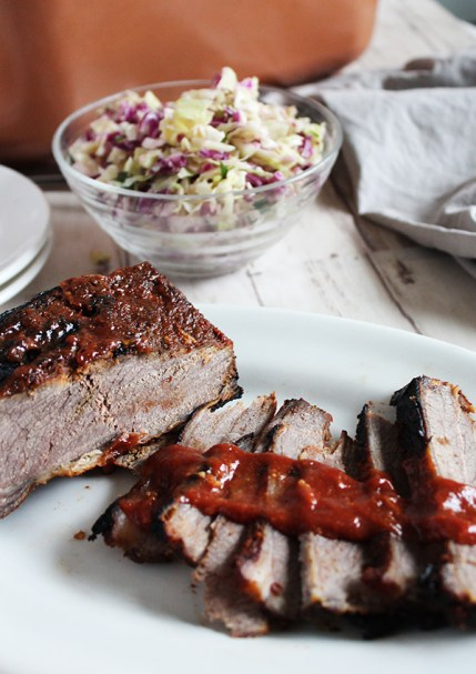 #Simpleandsavory barbecue beef brisket with homemade barbecue sauce