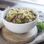 tabbouleh salad close up