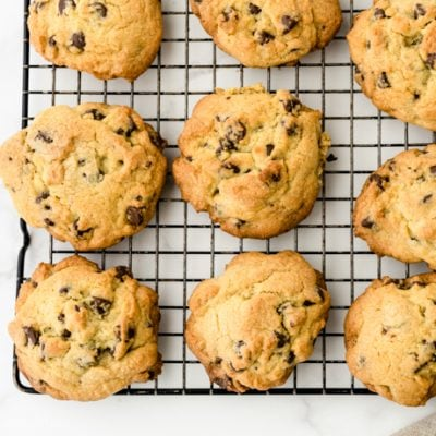 baked cookies on a cooling rack