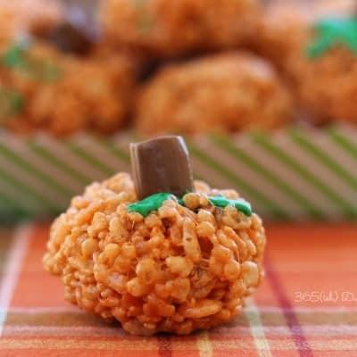 rice krispie pumpkin