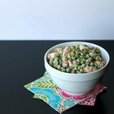 creamy pea salad pot luck side dish