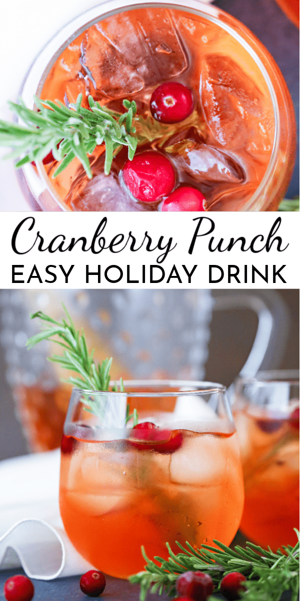 Celebrate the holidays with this Cranberry Punch! It's the perfect complement to your big meal. via @nmburk