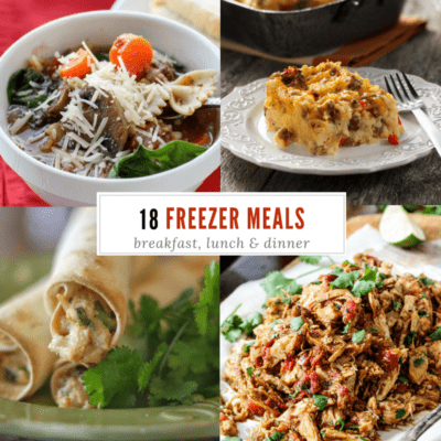 18 tried and true freezer meals that your family will actually eat! No bland, mushy dinners here. My family LOVES the taquitos!