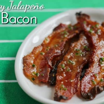Sweet, smoky and spicy, Honey Jalapeño Bacon is the perfect snack for watching football. It's basically candy with protein.