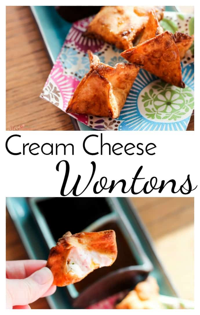 Put down the Chinese take out menu and try making your own Cream Cheese Wontons at home. appetizer   Crab Rangoon   takeout   Chinese food via @nmburk