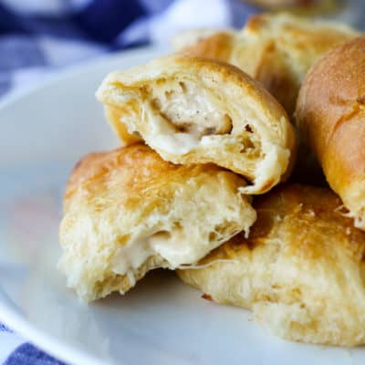 This quick and easy recipe for Cheesy Chicken Rollups will make life a little easier and a whole lot tastier! With fewer than 5 ingredients, it's bound to become a weekly favorite!