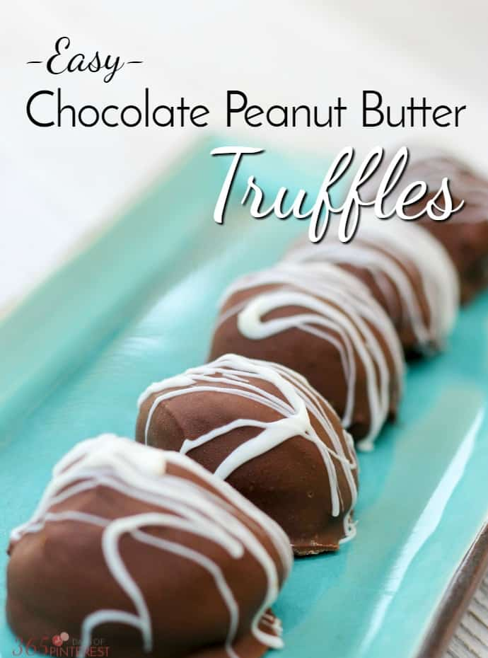Stuffed with peanut butter cup candies and dipped in creamy milk chocolate, these easy Chocolate Peanut Butter Truffles are sure to become a family favorite! via @nmburk