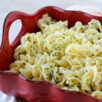 A perfect side dish when you're pressed for time, Easy Buttered Noodles come together in a snap and kids love them, too!