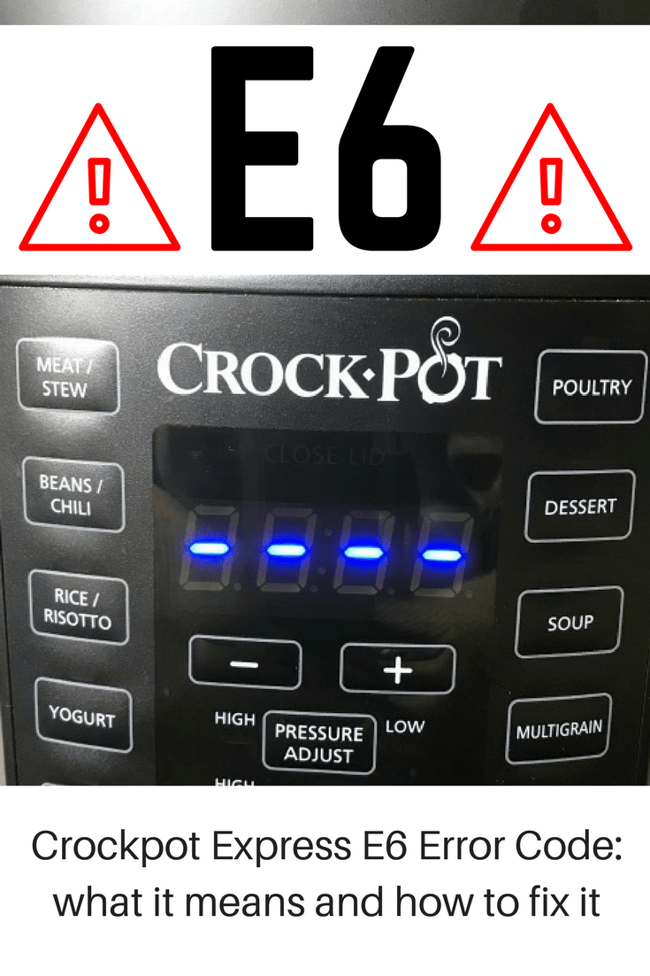 There's always a learning curve when using a new kitchen appliance, but getting an error code can certainly take the wind out of your sails! The Crockpot Express E6 error is a common one, but these tips will help you get things working again quickly! #CrockpotExpress  via @nmburk