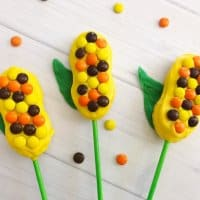 Celebrate fall by making these fun and tasty Harvest Corn Pops!