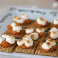 Capture the flavors of the season in these easy Sweet Potato Bites featuring Nutmeg and Cinnamon Triscuit Crackers!