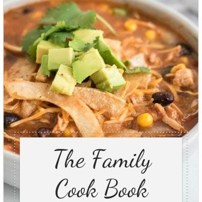 cover page of family cookbook