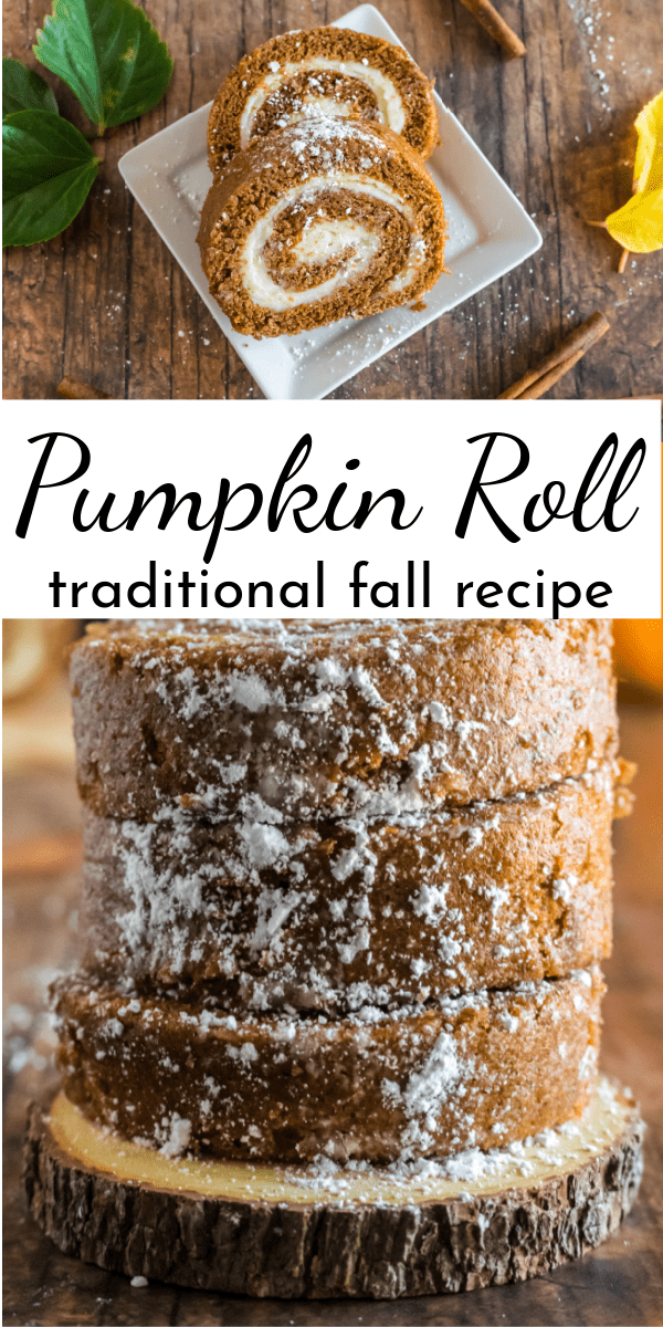 It's not fall without a pumpkin roll! Learn how to make a traditional Pumpkin Roll with step-by-step photos and instructions. via @nmburk