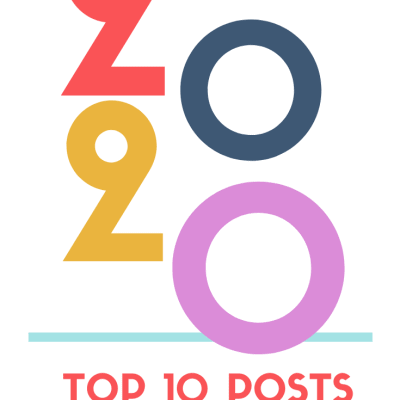 graphic reading: top 10 posts reader favorites in 2020